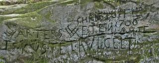 eine der bekanntesten Inschriften der Sächsischen Schweiz
