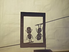Ubus Dreams - First Shadows (fabola) Tags: show shadow art robot theater theatre puppet mark magic experiment scene fabio mockup prototype fabrice figure animation dada maker bot millvalley mechanique ubu spoonman florin petrakis artmaker magictheater wonderbot makerart zboon