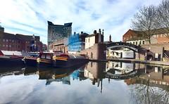 Reflections In Birmingham (hussey411) Tags: bridge reflection water reflections canal birmingham basin brum birminghamuk canalboat waterways canalbridge canalboats gasstreet