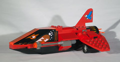 Feedom's Price Side (EliteGuard01) Tags: red speed fighter lego space lasers sciencefiction custom stunt starship cannons bountyhunter mercenary starfighter scify puritycity