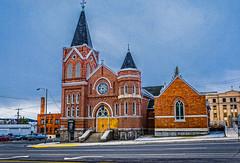St. Mark Lutheran Church--DSC00092--Butte, Montana (Lance & Cromwell back from a Road Trip) Tags: county montana butte sony roadtrip historic jefferson buttemontana 2016 nrhp sonyalpha dt1650mmf28 a77ii