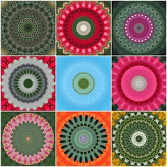 May Day Mandalas (Pfish44) Tags: pink green yellow happy mandala mayday hss sliderssunday kaleidacam picmonkey