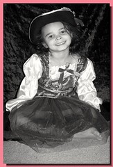 My Little Angel (PhotoJester40) Tags: blackandwhite cute halloween girl female costume nice pretty modeling posing pirate