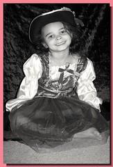 My Little Angel (PhotoJester40) Tags: blackandwhite cute halloween girl female costume nice pretty modeling posing pirate