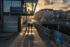 Strolling in the sunlight (Nodding Pig) Tags: uk greatbritain england sunlight marina afternoon portishead northsomerset 2015 portmarine 201512291999101