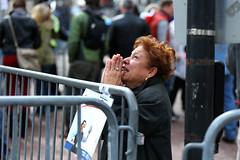 p, boston marathon bombing (Cubby Bear Blue) Tags: usa boston horizontal ma women unitedstates adult massachusetts praying scene kneeling finishline exploding boylstonstreet bostonmassachusetts emergenciesanddisasters 2013bostonmarathon 2013bostonmarathonbombing originalfilename166670349jpg