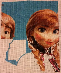 Full Face and Extra Shadowing (diedintragedy) Tags: blue anna frozen crossstitch cross embroidery sewing crafts sew stitches plaits aida kristoff artandcrafts crossstitchproject