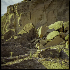 ChacoCanyon1997-479 (sara97) Tags: newmexico analog landscape outdoors 1997 chacocanyon archeology analogphotography kodakfilm kowa6 kodakektachromee100sw photobysaraannefinke kowa6mediumformat chacoculturehistoricpark