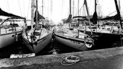Sail me (explored 2016/01/13) (Fnikos) Tags: blackandwhite monochrome sailboat port puerto dock barca barco waterfront outdoor sail navegar