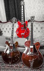 """Girlfriends"" (GEORGE TSIMTSIMIS) Tags: people music guitar blues livingroom indoors rockroll sheraton gibson 1962 1976 epiphone chetatkins gibson335"