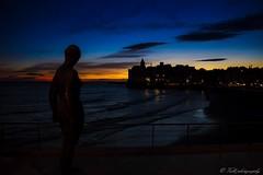 sunset sitges (danivalle76) Tags: espaa paisajes mar sigma playa colores escultura nubes catalunya cielos estatua sitges nikond3200 18200mm