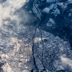 Cluses from above (phreekz.chmee) Tags: winter france frankreich flight aerial alpen luftbild cluses
