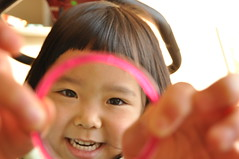 (YuUKi) Tags: pink girl smile kids nikon play finger     d5000