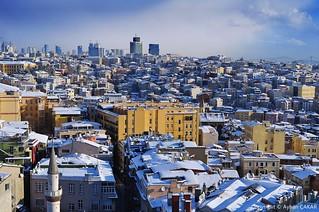 Wintertime Aerial Beyoğlu Istanbul