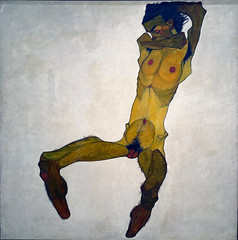 Schiele, Seated Male Nude (Self-Portrait), 1910