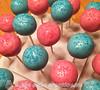 Gender reveal party cake pops