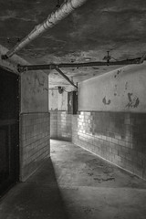 eastern states penitentiary 2016-002 (frntprchprss) Tags: blackandwhite abandoned architecture tile concrete prison jail easternstatespenitentiary jamesgehrt