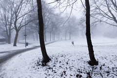 Foggy evening in Lund (ickeliv) Tags: winter lund fog skne sweden foggy sverige