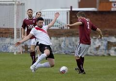 Graham Mort poised to win the loose ball (Stevie Doogan) Tags: park west scotland scottish first super juniors division league holm clydebank bole maybole bankies mcbookiecom