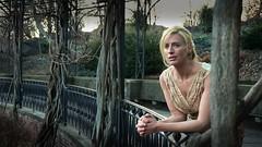 Titania contemplates her fate (InByTheEye) Tags: park winter film branches actress titania pergola magicrealism