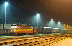 Vrek (Nikis182) Tags: electric night train long exposure slovensko slovakia locomotive vlak koda malacky lamintka nikis182 zsskc 240002