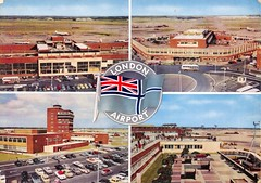 Heathrow Airport, early 1960s (robin.croft) Tags: london airport heathrow postcard