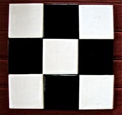 "My own art: 9 one-inch glazed & kiln-fired ceramic squares in a square! Macro Monday theme: ""Square"" (ArtsySFMarjie) Tags: macro art square ceramic mine squares tiles myart theme monday glazed oneinch kilnfired squareart macromonday"