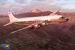 VC-118 over US Air Force Academy - painting by Ron Cole (ColesAircraft) Tags: art painting us aircraft aviation usaf airforceacademy dc6 roncole c118