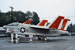 A-7A / NA-7A 152658/658 NATC c/s, Patuxent River, Naval Air Test & Evaluation Museum, 26-09-2000. (Marked as A-7C) (Aircraft throughout the years) Tags: corsair 658 patuxentriver vought ltv teamco natc corsairii a7a 152658 a7c na7a navalairtestevaluationmuseum