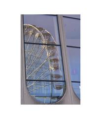 Wheel Reflected (Pictures from the Ghost Garden) Tags: uk windows urban architecture buildings reflections birmingham nikon unitedkingdom dslr westmidlands urbanlandscape 18105mm d7100