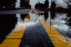 Yellow Lines (reclaimednj) Tags: road us newjersey flooding unitedstates nj landing climatechange 2016 sealevelrise amasa tuckerton burlingtoncounty bassrivertownship