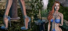 TLM - 10/02/2016 Detail (Estela Serenity) Tags: tattoo gold dress longhair fantasy precious heels elysium entwined pasteltones signaturepose catwa appliers kccouture sukitita