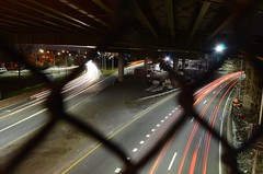 37/366 - Bustling City (Jakub Wil.) Tags: new york city nyc light urban cars island photo timelapse nikon long exposure day trails overpass lie 365 expressway dslr challenge 366 d5100