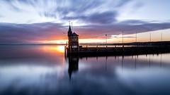 Mirror Sunrise (Sebo23) Tags: lake sunrise hafen bodensee sonne sonnenaufgang konstanz lakekonstanz langzeitbelichtung longtimeexposure canon6d canon24704l