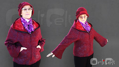 Felted jacket and felted hat (Orli Felt) Tags: wool hat felted wine handmade womens jacket orlifelt