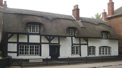 [39430] Repton : 5 Willington Road (Budby) Tags: house blackwhite 17thcentury derbyshire cottage thatched timbered repton
