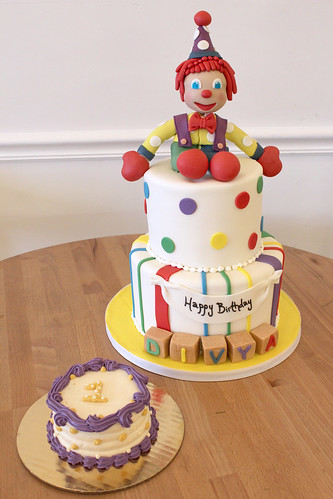 Clown Toy Custom cake and Smash cake