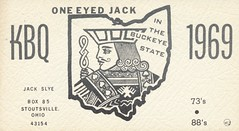 One Eyed Jack - Stoutsville, Ohio (73sand88s by Cardboard America) Tags: ohio vintage jack state qsl cb playingcard cbradio qslcard stoutsville