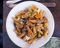 Organic Sedani with Porcini Mushrooms and Butternut Squash