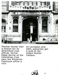 Entrance to Thomas Hunter Hall (Hunter College Archives) Tags: building buildings exterior entrance yearbook 1993 hunter lexingtonave huntercollege 68thst thomashunterhall wistarion thewistarion