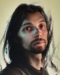 Portrait, 2010 // by Daniel Sprick (mike catalonian) Tags: portrait male face painting 2010 2010s danielsprick