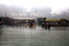Pilgrims bathing in the Sarayu River (David Clay Photography) Tags: india bathing hindu pilgrimage pilgrims sarayu ayodhya