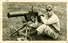 Machine-gunner-postcard (Old Guard Museum) Tags: old guard machinegun fortsnelling m1917 3rdinfantryregimentthe