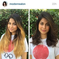 """Major transformation by Number 9's @jopantsa picked up and reposted by @modernsalon ! #crushingit !!!  #hair #haircolor #style #florida #stpete #dtsp #brunette #hairstylist #transformation • <a style=""""font-size:0.8em;"""" href=""""http://www.flickr.com/photos/41394475@N04/25401658130/"""" target=""""_blank"""">View on Flickr</a>"""