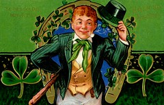 Erin Go Bragh, St. Patrick's Day, March 17th (Alan Mays) Tags: old ireland irish men green vintage hair paper cards typography gold clothing holidays suits erin antique pipes hats illustrations ephemera clothes luck lucky postcards type greetings vests stpatrick shamrocks redhair fonts irishmen printed horseshoes stpatricksday tipping goodluck typefaces greetingcards saintpatricksday saintpatrick march17 march17th postcardseries hattip hattipping series4 eringobragh claypipes tipothehat shillelaghs stpatrickseriesno4