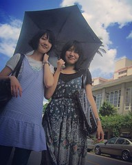 In Northern Europe, we go sunbathing... (jens.wiesner) Tags: girls sun students umbrella campus roc university taiwan bluesky taipei technicolor taipeh taiwanese nccu universit muzha toosunny schirm sonnenschirm taiwantrip chengda taiwanfashion igtaiwan uploaded:by=flickstagram instagram:photo=118476152799185974512015061 instagram:venuename=e59c8be7ab8be694bfe6b2bbe5a4a7e5adb8nationalchengchiuniversity28nccu29 instagram:venue=112685 nationalchangchiuniversity