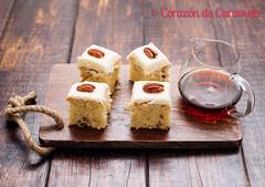 Pastel de Sirope de Arce y Nueces Pecanas (Corazn de Caramelo) Tags: food cakes postres pie recipe blog cookie comida pudding desserts sweets recetas reposteria tartas leicasummiluxm50mmf14asph corazndecaramelo sonya7ii