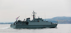 HMS Ramsey M110 Minesweeper (Niall McCormick) Tags: dublin port 1 mine ship counter group navy royal nato ramsey minesweeper hms measures m110 minehunter