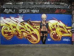 Mr Shiz & Mr Frames graffiti, Leake Street (duncan) Tags: graffiti leakestreet shiz mrshiz transporter transporter2 katenauta lola frame mrframe frames mrframes girl