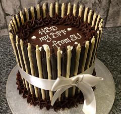 Cigarillo ganache cake